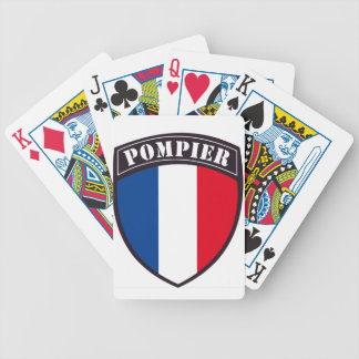 fireman France Bicycle Playing Cards