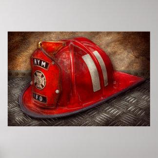 Fireman - Hat - A childhood dream Print