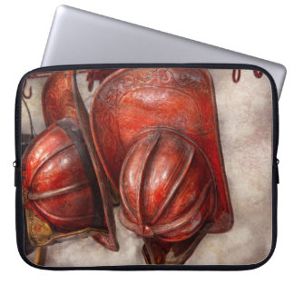 Fireman - Hat - Old fashioned fire hats Laptop Sleeve