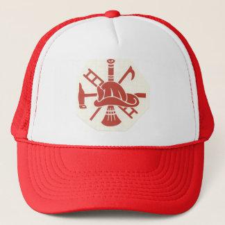 Fireman helmet trucker hat