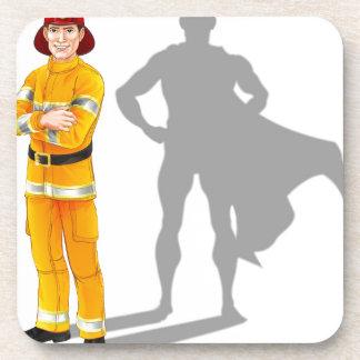 Fireman Hero Drink Coaster