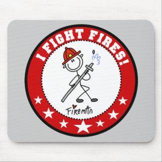 Fireman I Fight Fires Mousepad