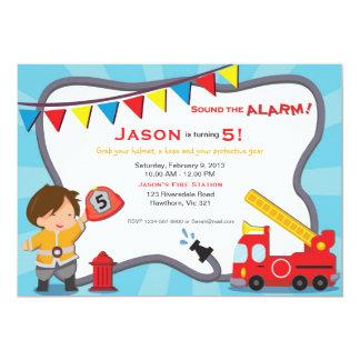 Fireman Invitation / Fire Truck Invitation Party