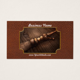 Fireman - It's polite to point Business Card