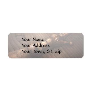 Fireman - It's polite to point Return Address Label