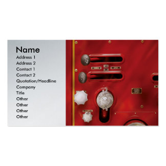 Fireman - Lever's and Valves Double-Sided Standard Business Cards (Pack Of 100)
