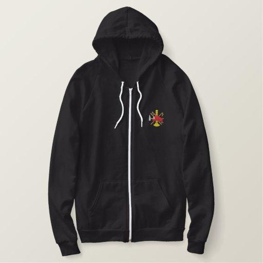Fireman Logo Embroidered Hoodie