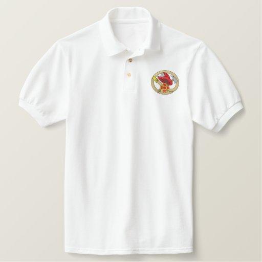 Fireman Logo Embroidered Polo Shirt