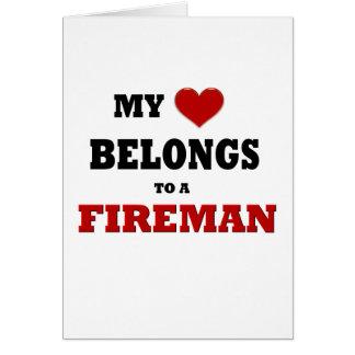 Fireman Love Greeting Card