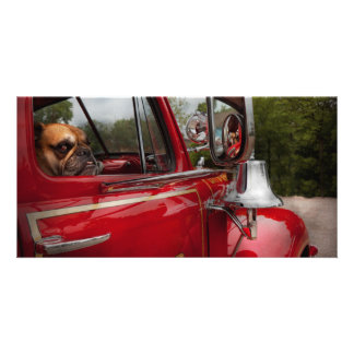 Fireman - Mack Personalized Photo Card