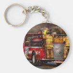 Fireman - Metuchen Fire Department Basic Round Button Keychain