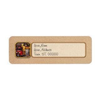 Fireman - Metuchen Fire Department Label