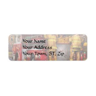Fireman - Metuchen Fire Department Custom Return Address Label