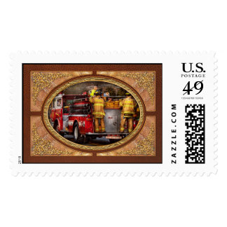 Fireman - Metuchen Fire Department Postage