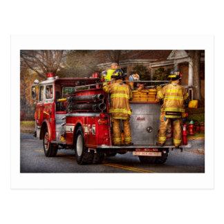 Fireman - Metuchen Fire Department Postcard