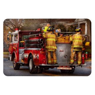 Fireman - Metuchen Fire Department Rectangular Photo Magnet