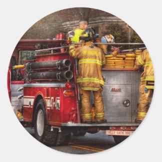 Fireman - Metuchen Fire Department Round Sticker