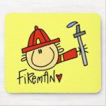 Fireman Mousepad Yellow