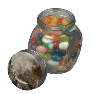Fireman - New York NY - Big stink over ink 1915 Jelly Belly Candy Jar