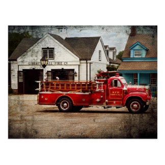 Fireman - Newark fire company Postcard