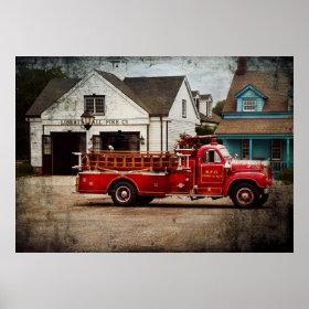 Fireman - Newark fire company Print