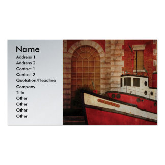 Fireman - NY - The fire boat Business Cards