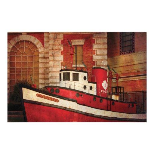Fireman - NY - The fire boat Custom Stationery