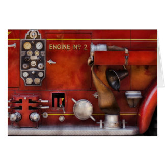 Fireman - Old Fashioned Controls Greeting Card
