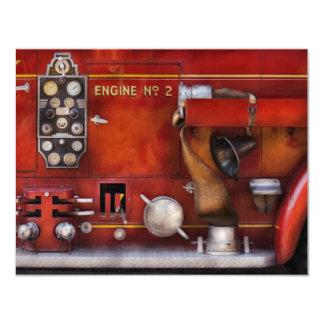 Fireman - Old Fashioned Controls 4.25x5.5 Paper Invitation Card