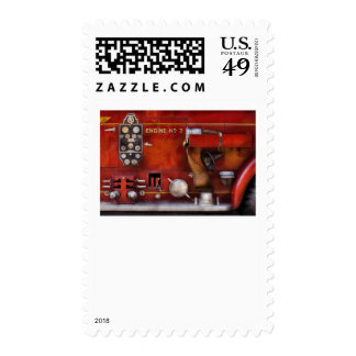 Fireman - Old Fashioned Controls Postage Stamp