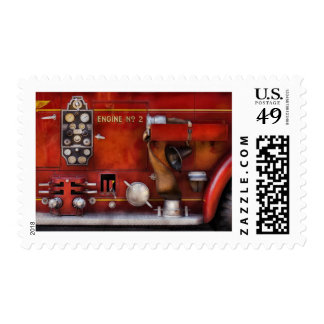 Fireman - Old Fashioned Controls Stamp