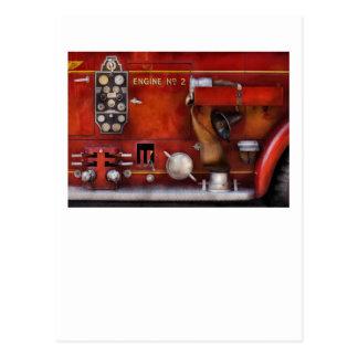 Fireman - Old Fashioned Controls Postcard