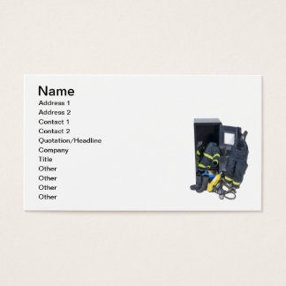 Fireman Outfit Locker Business Card