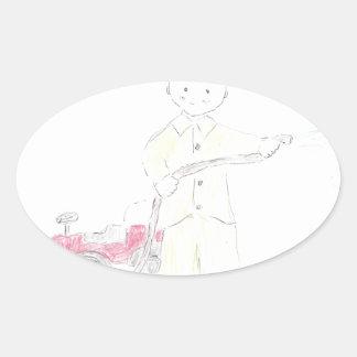 Fireman Oval Sticker