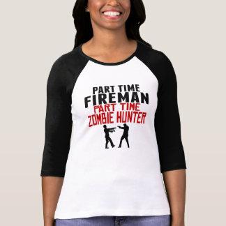 Fireman Part Time Zombie Hunter T-Shirt