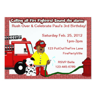 Fireman Party Personalized Invitation