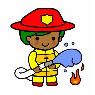 Fireman Standing Photo Sculpture