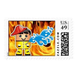 Fireman Postage Stamp