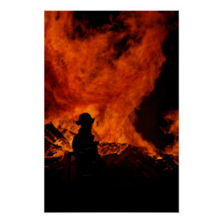 Fireman Poster Print