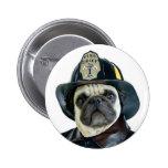 Fireman Pug button