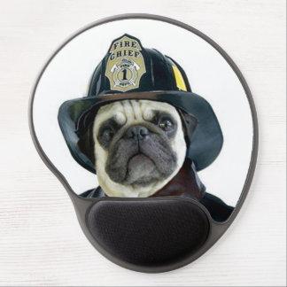 Fireman Pug Dog Gel Mouse Pad