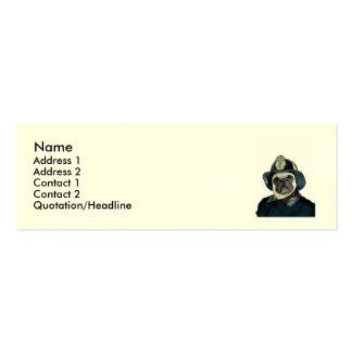 Fireman pug dog mini business card