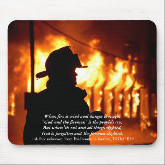 Fireman Quote Mousepad