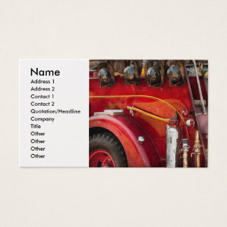 Fireman - Ready for a fire Business Card