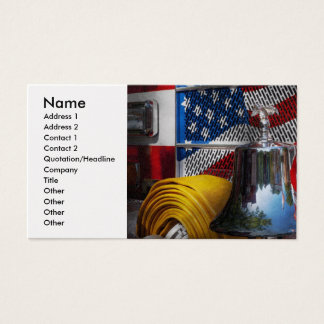 Fireman - Red Hot Business Card