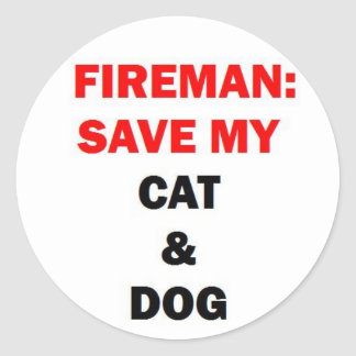 Fireman Rescue My Pets Sticker