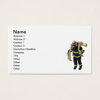 Fireman Rescue Person Business Card