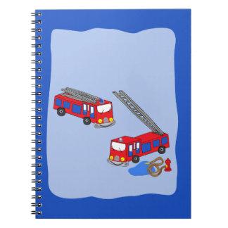 Fireman's Red Fire Trucks Notebook