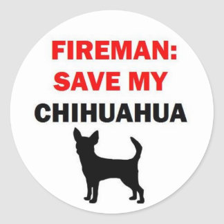 Fireman Save My Chihuahua Stickers
