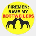 Fireman Save My Rottweilers Sticker